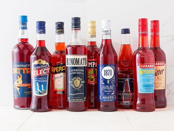 Selection of Italian bitters