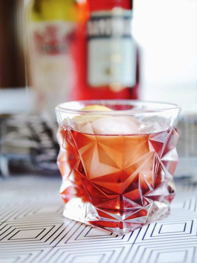 Beautiful Negroni glass