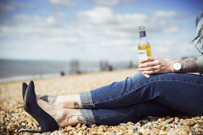 Inka Larissa on the beach