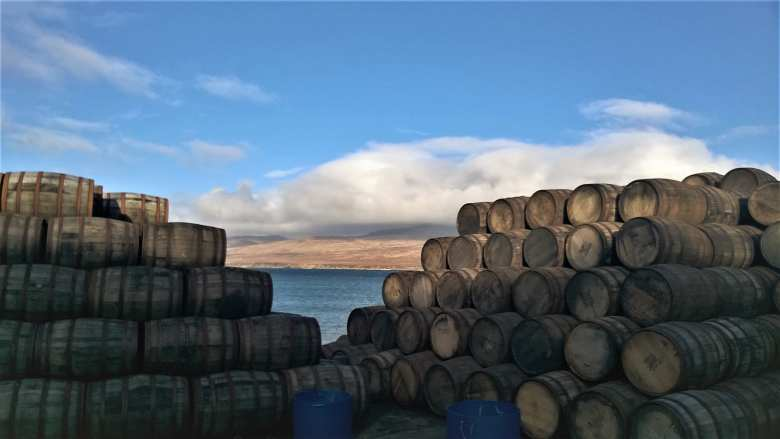 Casks stored by the sea in Islay
