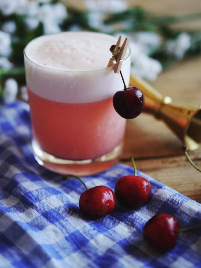 Cherry Bourbon Sour