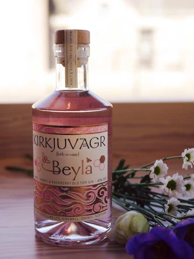 Beyla raspberry and honey gin