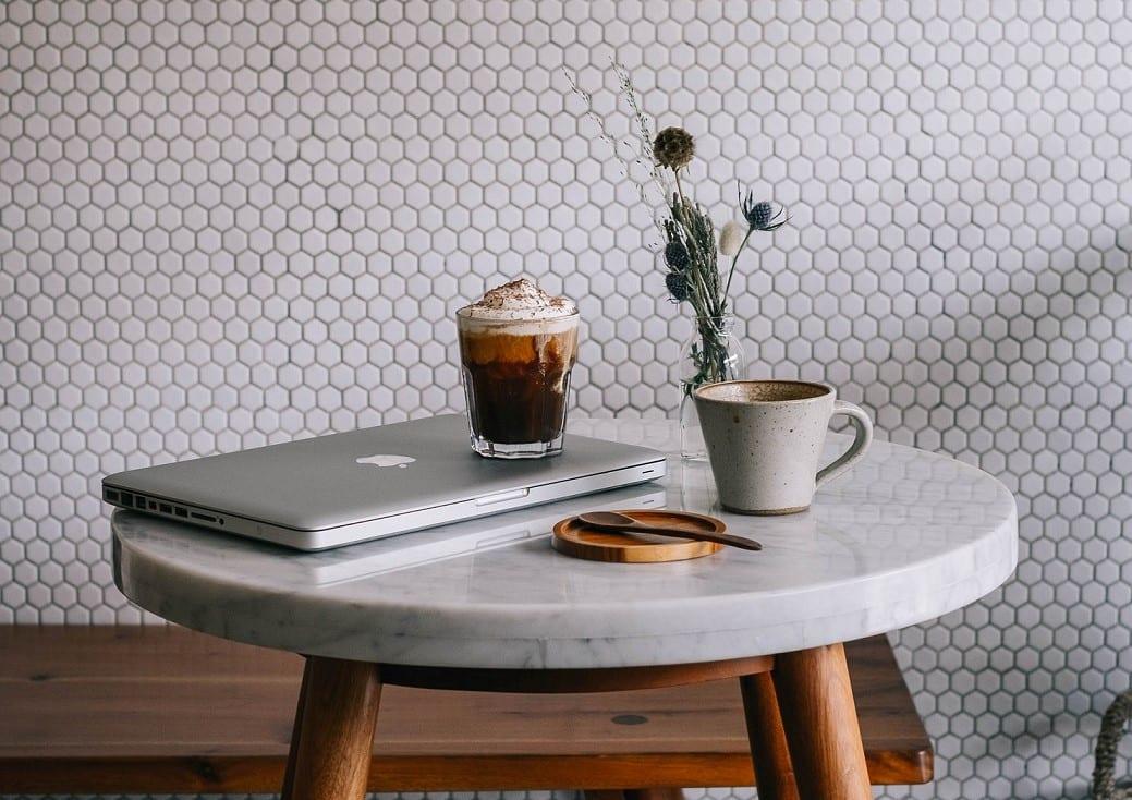 Irish cofee on the table