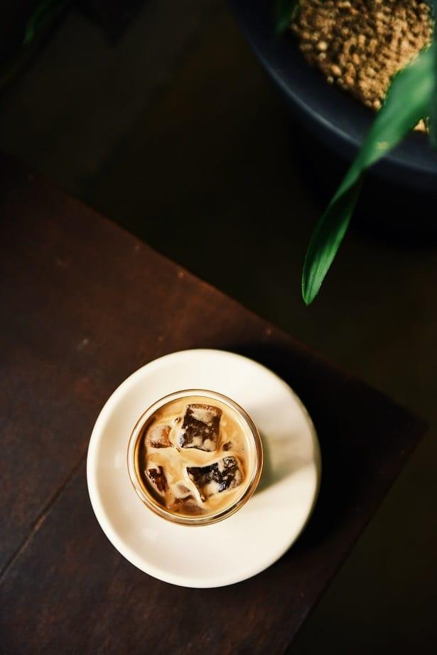 Iced coffee with Irish whiskey