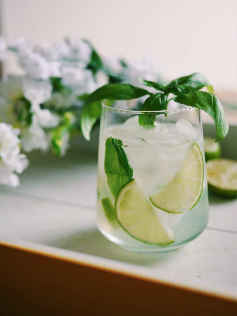 Basil cocktail with savoury gin