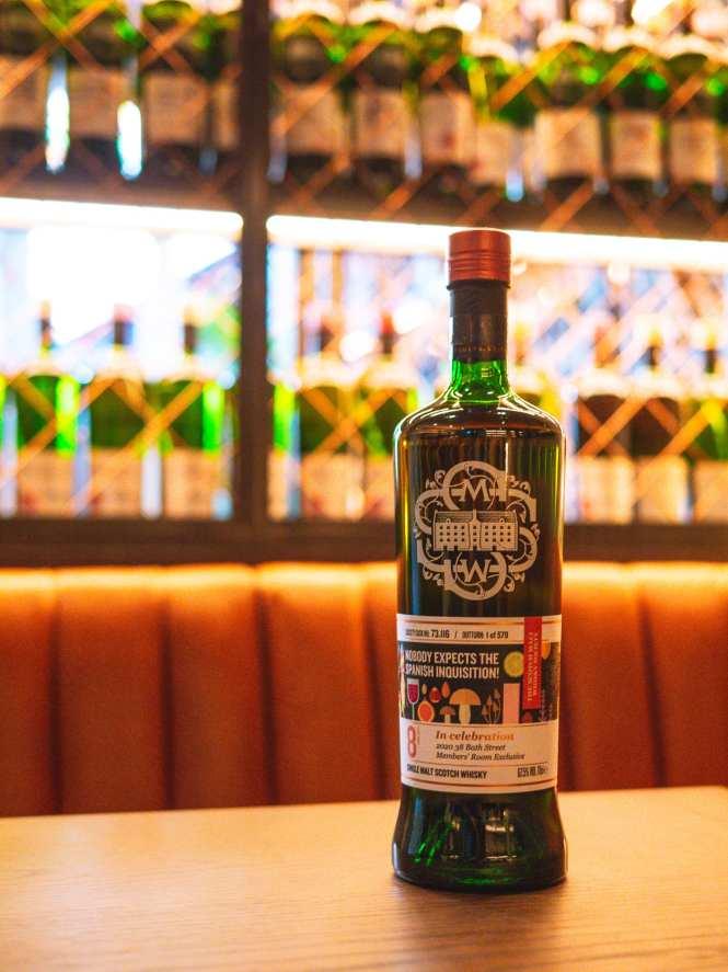 SMWS whisky bottle