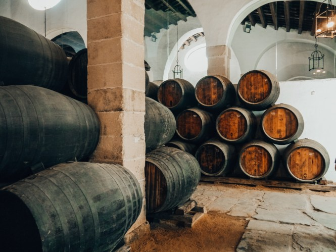 Sherry casks ageing