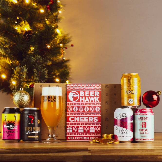Christmas gift beer box