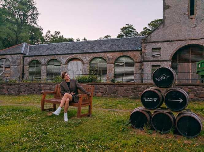 Isle of Raasay distillery sign
