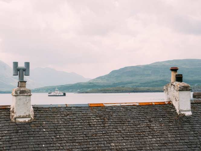 Ferry coming to Isle of Raasay