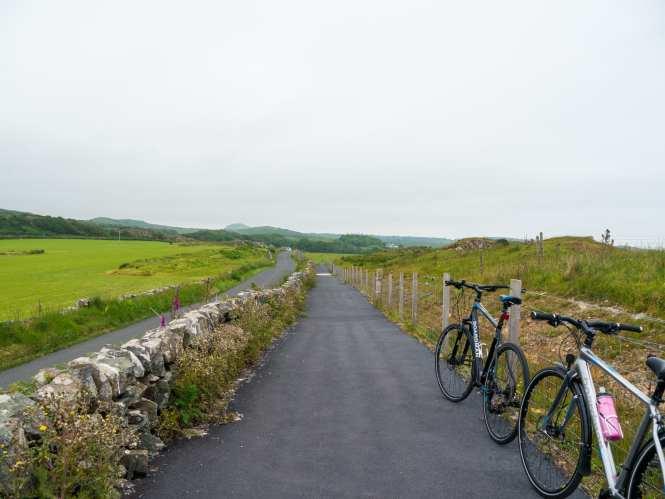 Cycling road on islay