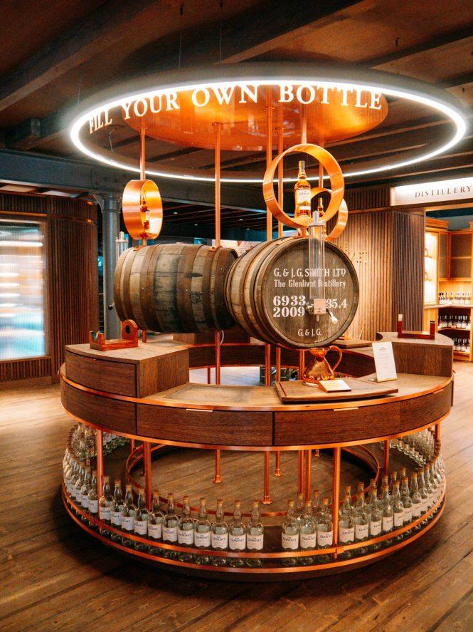Fill your own bottle at The Glenlivet
