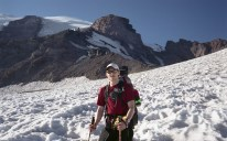 Me working my way up the Muir snowfield