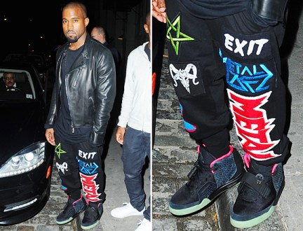 Kanye-West-Wore-Metal-Sweatpants