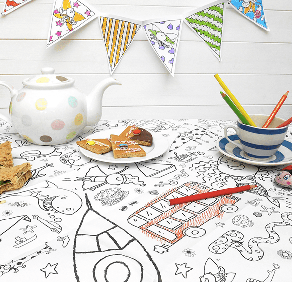 Colouring-in tablecloth