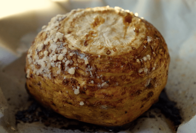 Whole baked celeriac