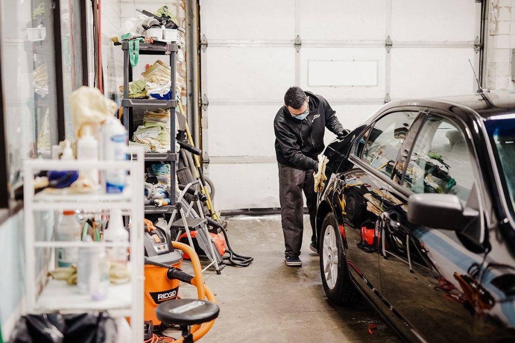 On the Spot Detailing car wax Woodbury, MN.