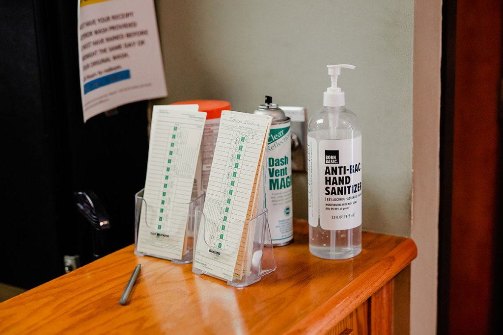 On the Spot Detailing office hand sanitizer Woodbury, MN.