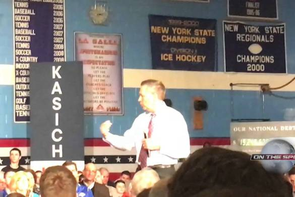 John Kasich in Troy New York 4 11 16