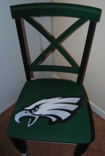 It's Sunday,  Have a Seat: Upcycled, Hand Painted Decoupage Football Lover's Chair (4/5)