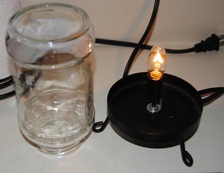 Upcycled Spaghetti Jar Decorative Lamp (1/3)