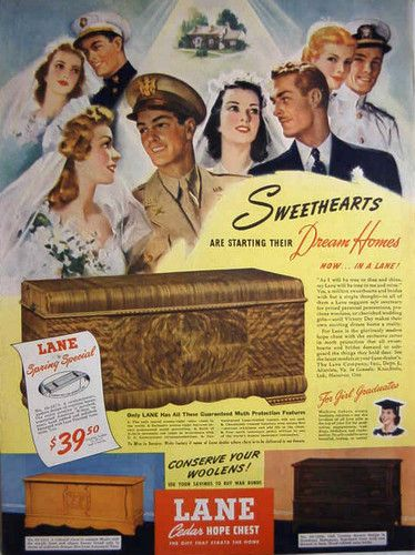 On The Upcycle Revival: Vintage 1934 Lane Waterfall Art Deco Hope Chest (5/6)