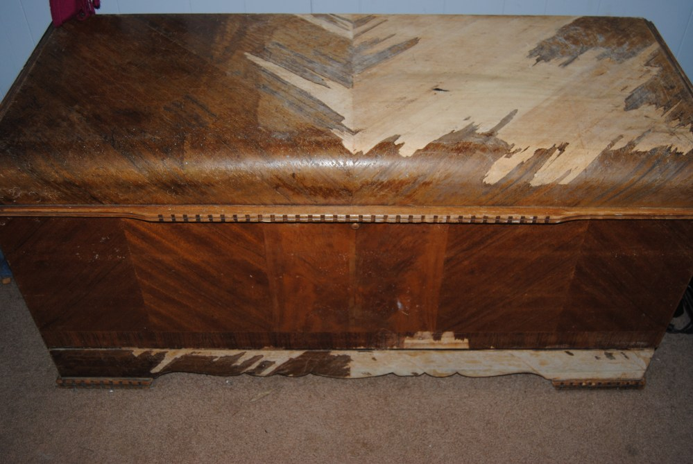 On The Upcycle Revival: Vintage 1934 Lane Waterfall Art Deco Hope Chest (1/6)