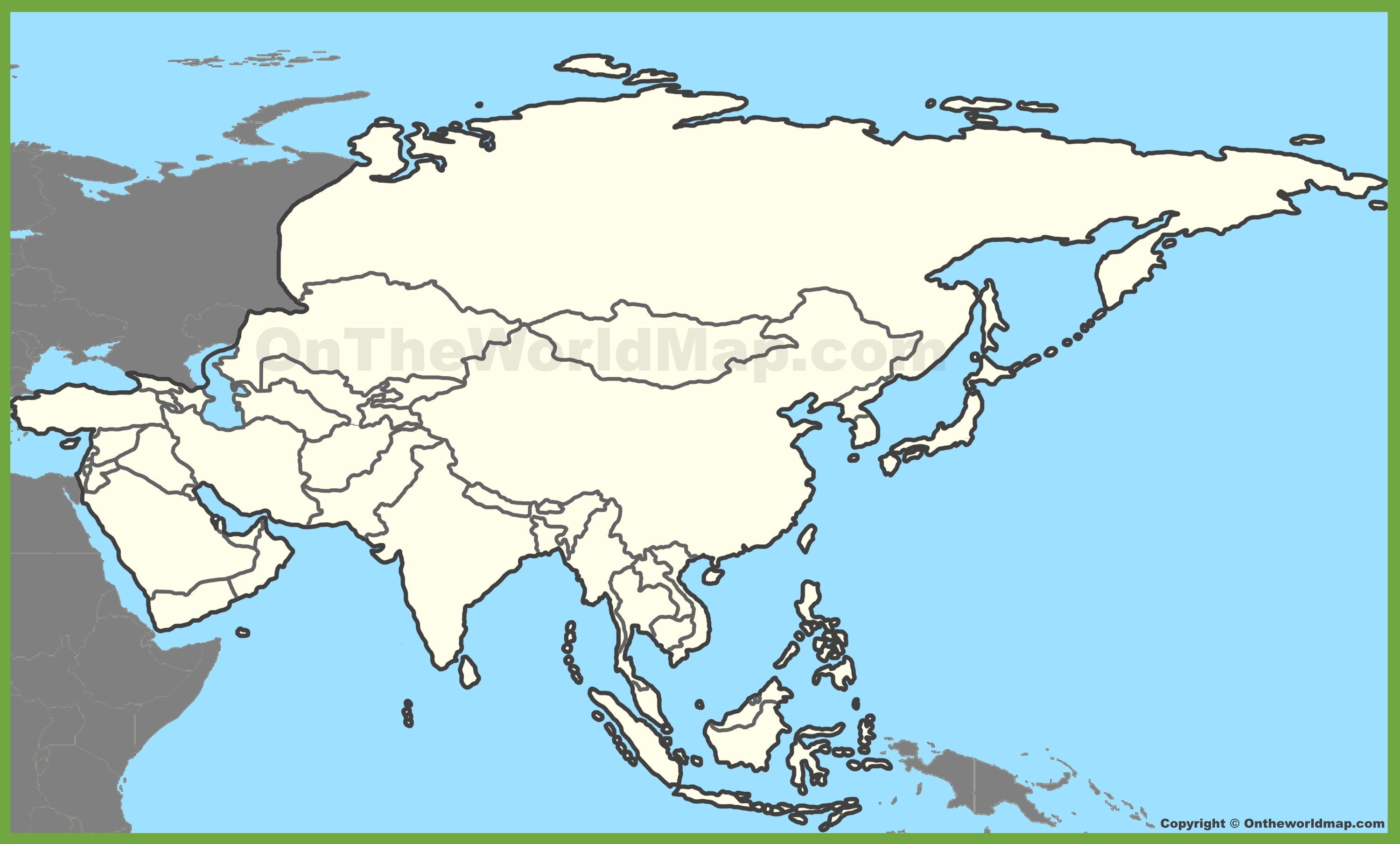 Blank Map Of Asia