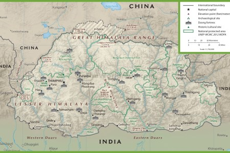 bhutan physiographic map » Full HD MAPS Locations - Another World ...