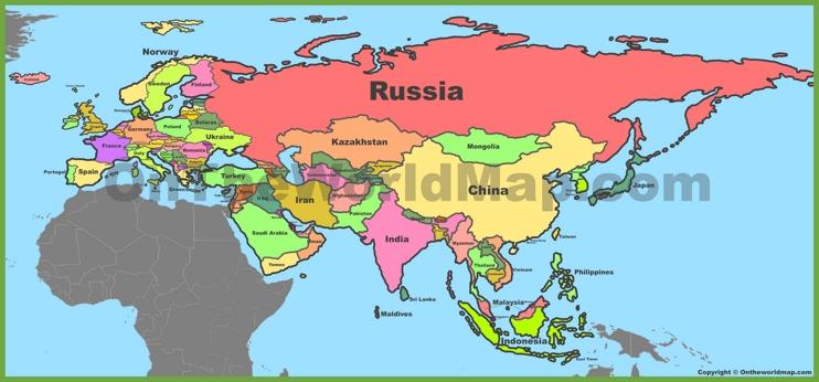 Maps Of Eurasia - OnTheWorldMap.com