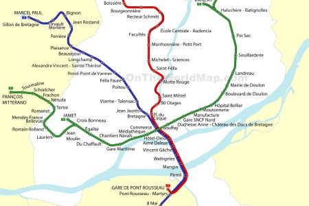 nantes tram map nantes france » Full HD MAPS Locations - Another ...