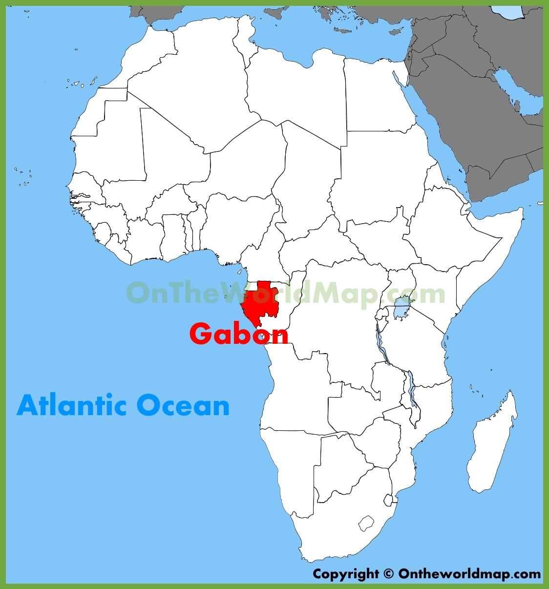 Image result for Gabon, map