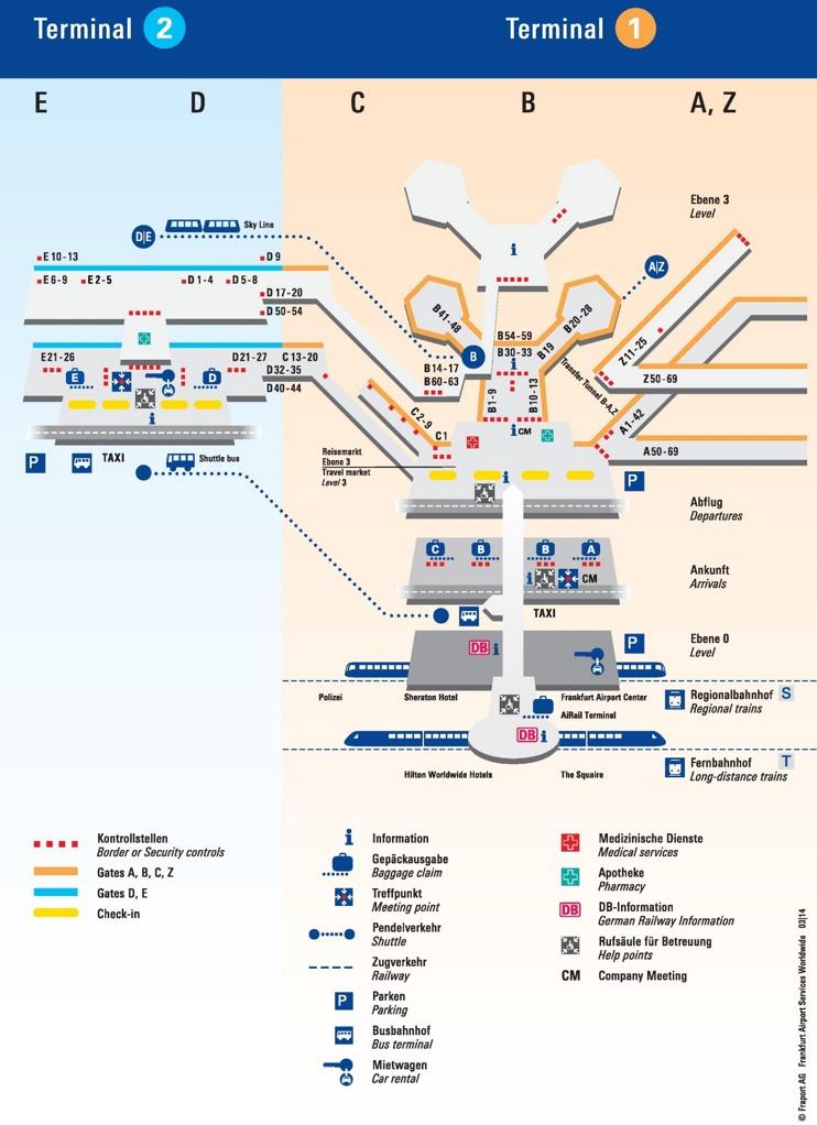 Lufthansa Frankfurt Airport Map
