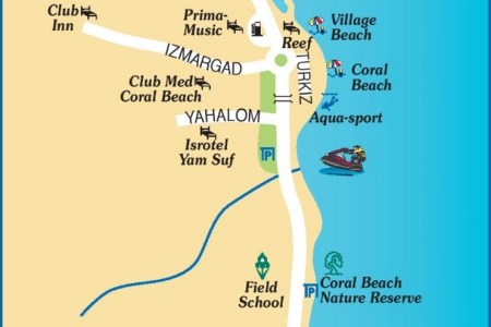eilat southern beach map » Full HD MAPS Locations - Another World ...