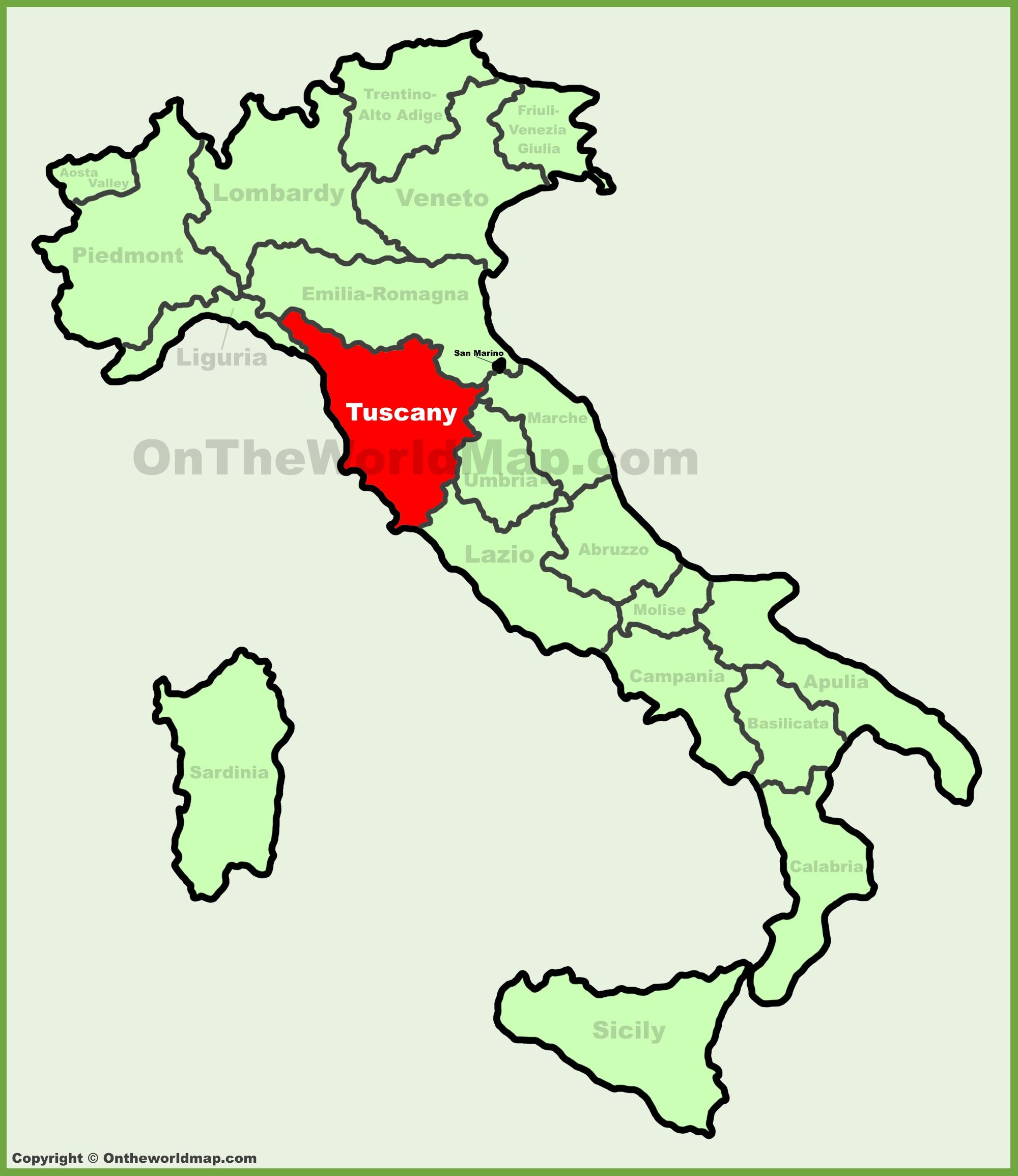 Italy Regions Map Worksheet