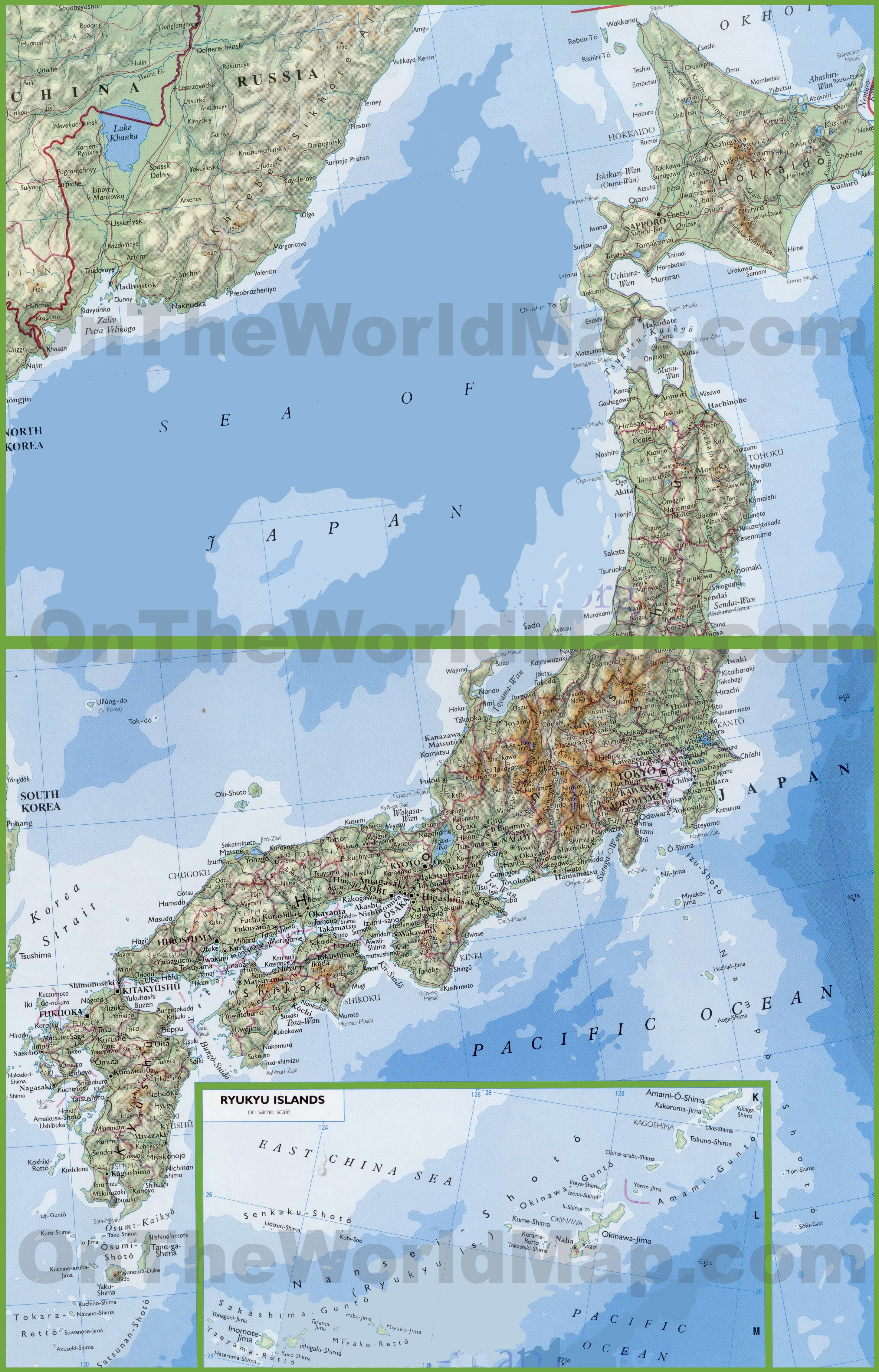 Large Detailed Map Of Japan With Cities