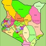 Administrative Map Of Kenya