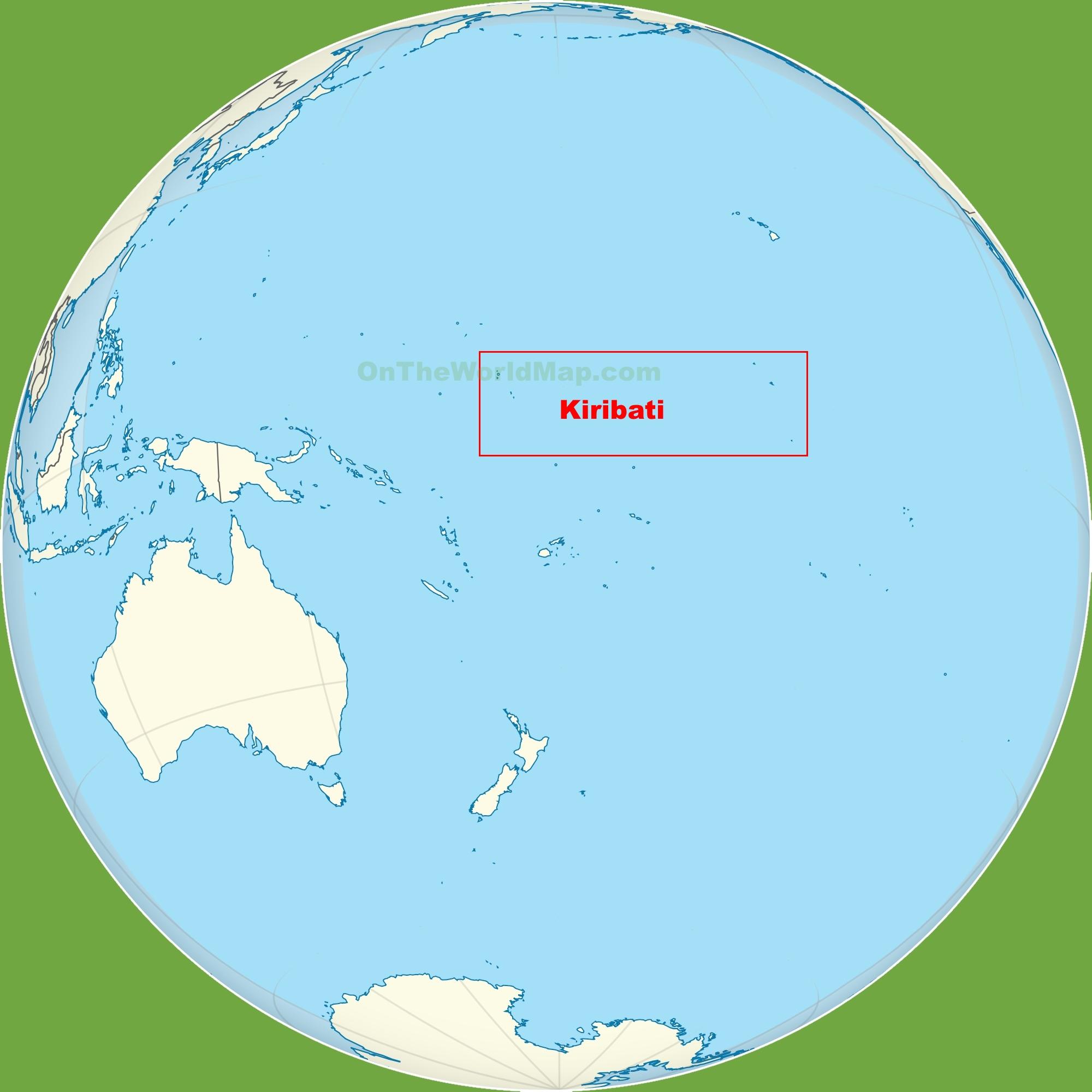 Kiribati Location On The Pacific Ocean Map