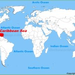 Caribbean Sea Location On The World Map