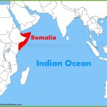 Somalia Location On The Indian Ocean Map