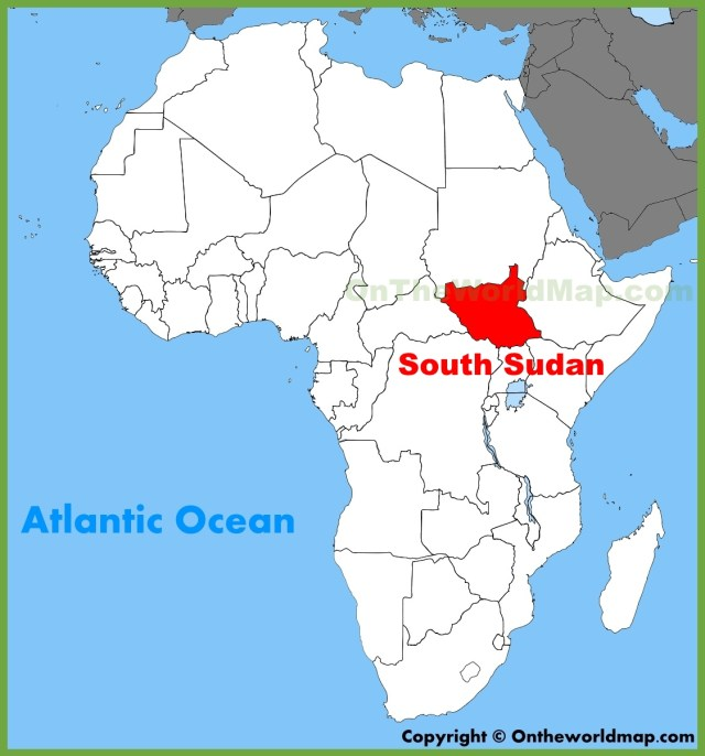 Image result for south Sudan map