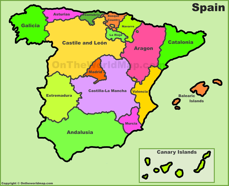 Spain Political Map