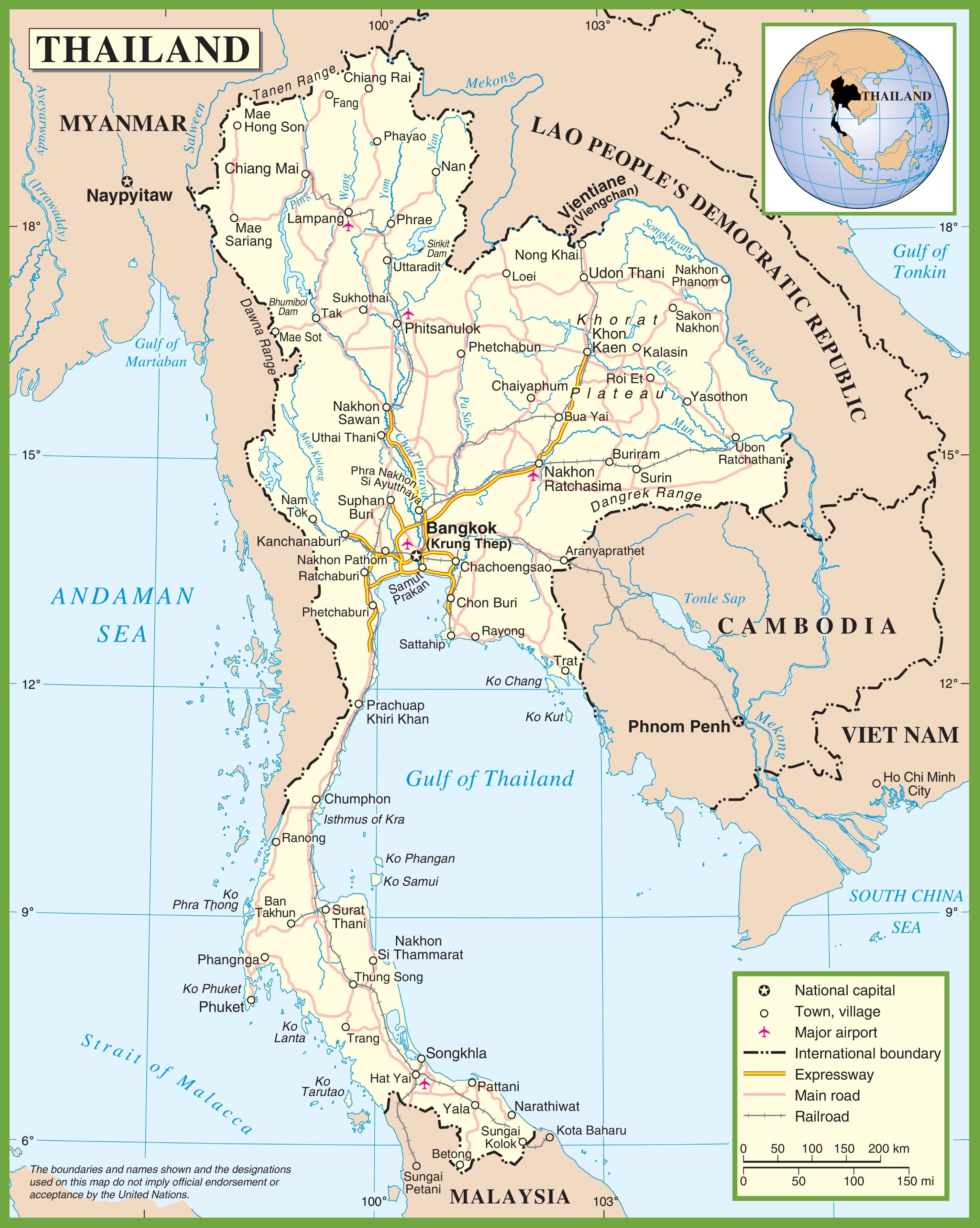 Thailand Highway Map Afp Cv