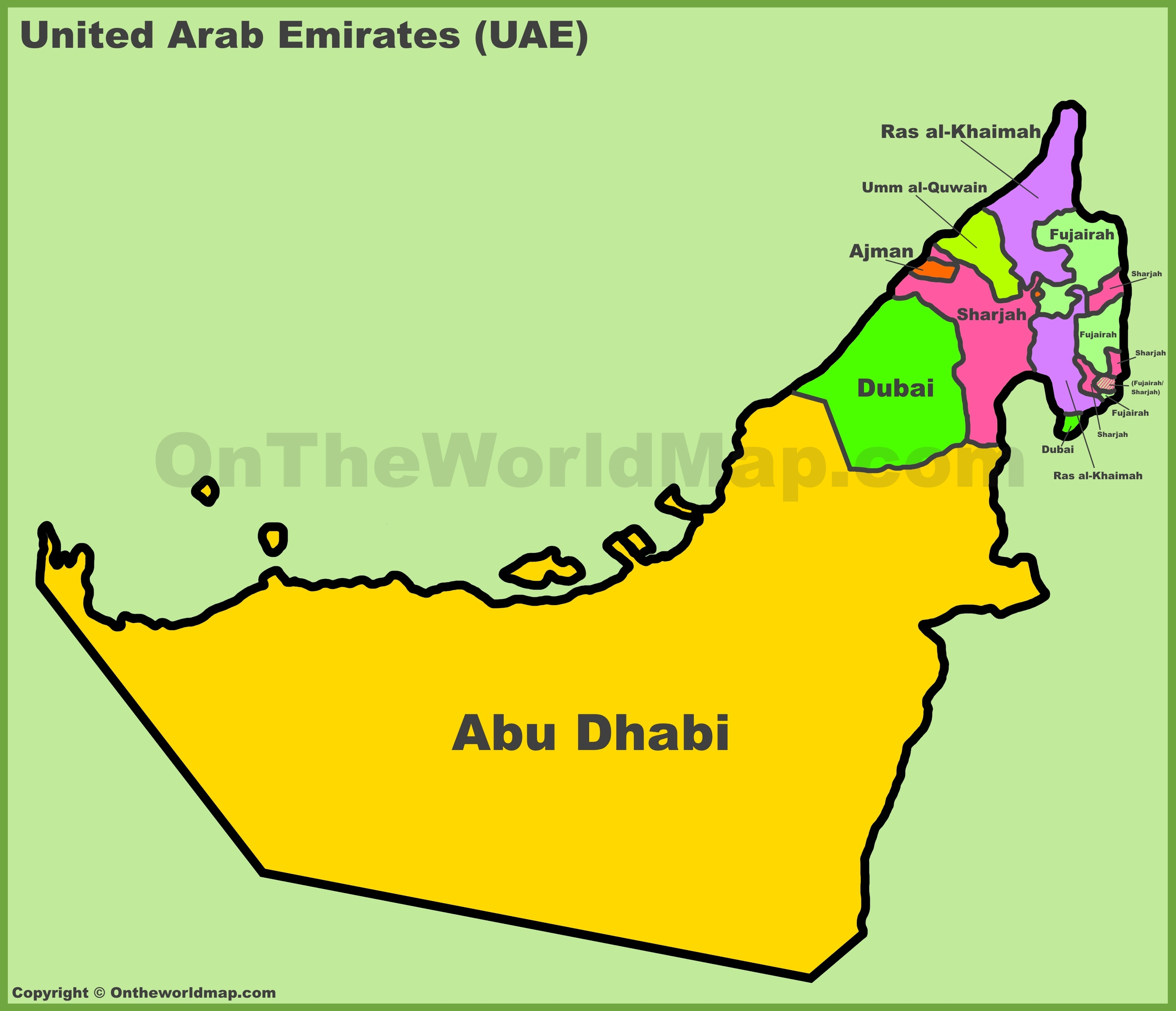 United Arab Emirates Map Coloring Pages