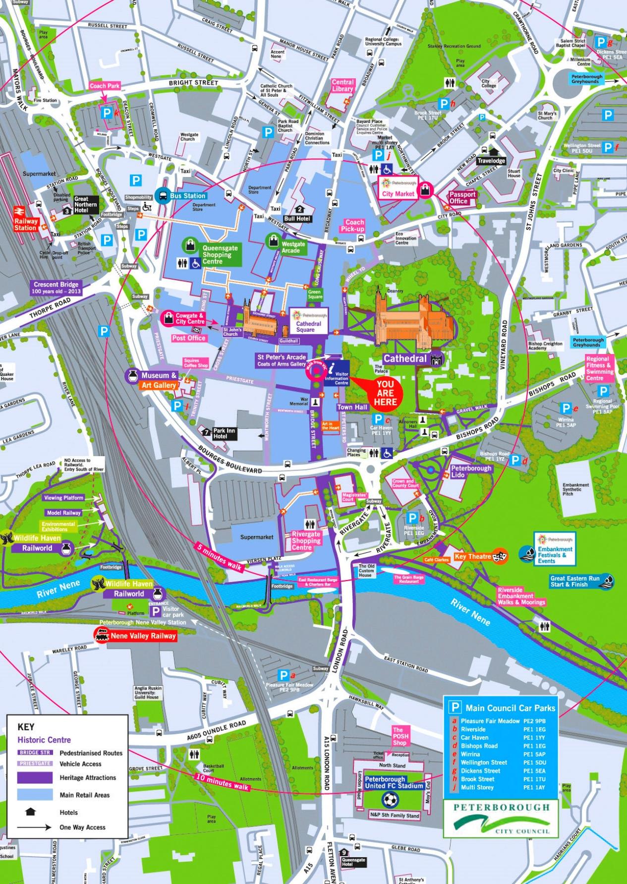 Peterborough Uk World Map