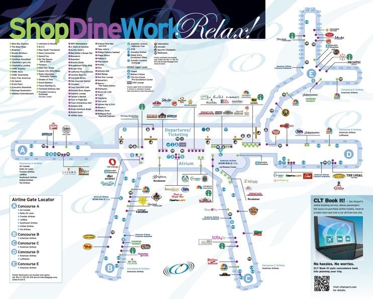 Charlotte Douglas International Airport Map