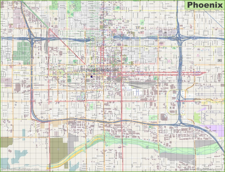 Phoenix Area Hospitals Map