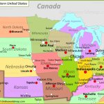 Map Of Midwestern United States