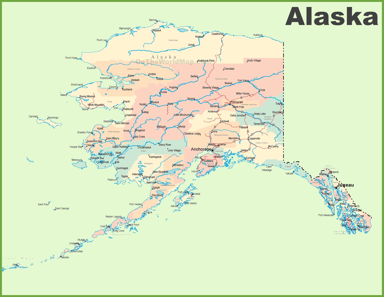 Alaska On State Map