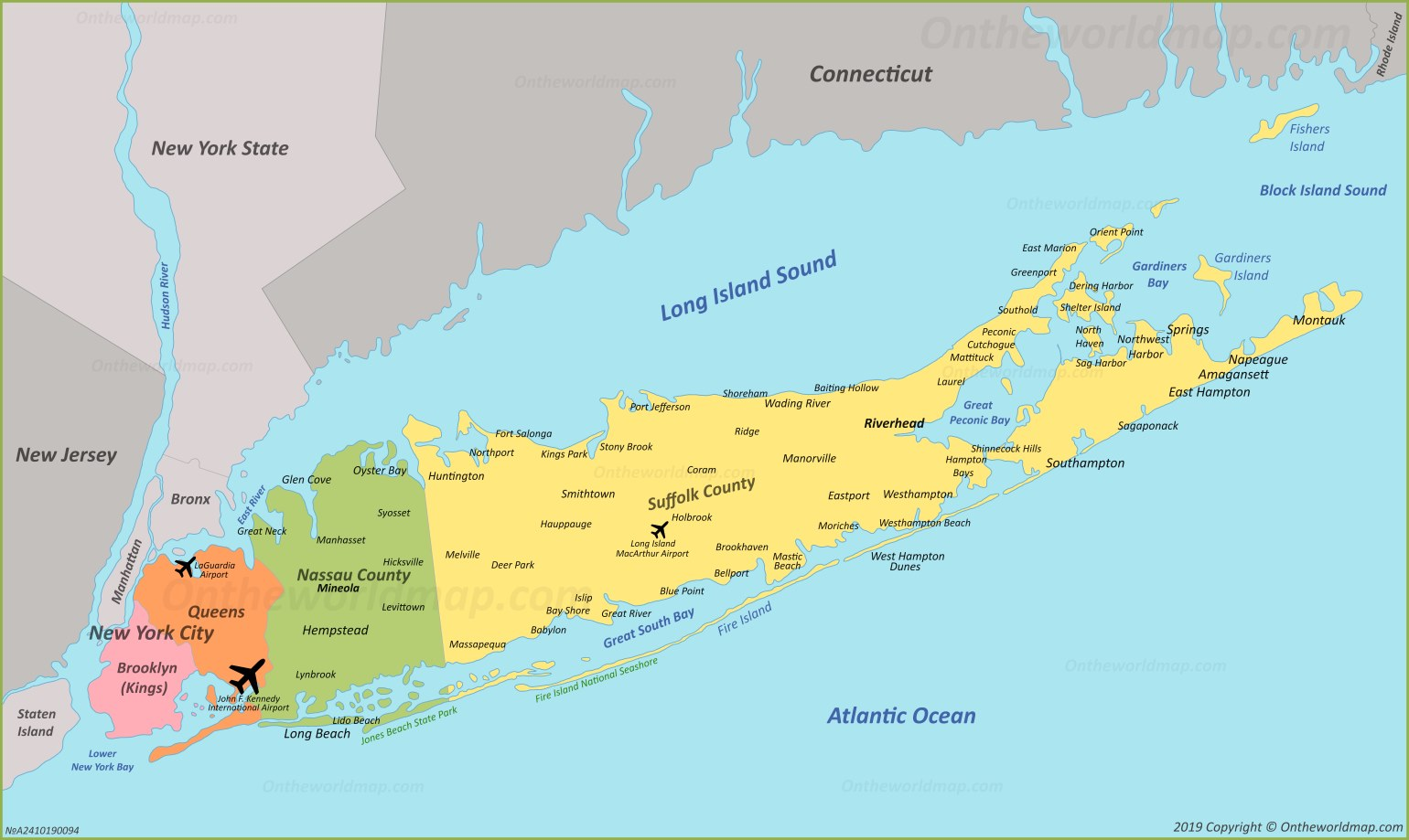 Map Queens Ny Towns